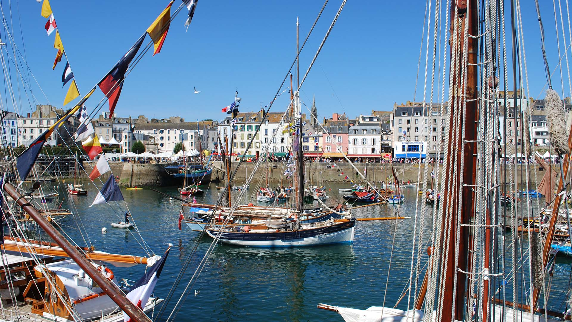 Amelie Rose moored up at Temps Fete Douarnenez back in 2012