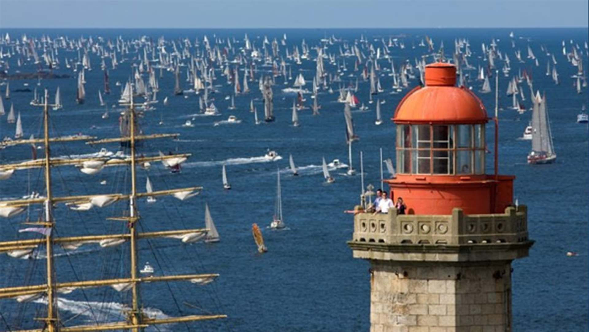 The traditional fleet out sailing at Brest International Maritime Festival 2016